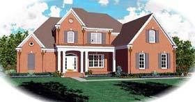 European Traditional House Plan 48595 Elevation