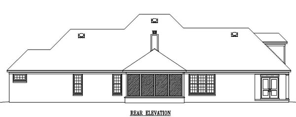 House Plan 48598 Rear Elevation