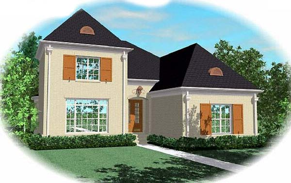 European House Plan 48602 Elevation