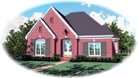 European House Plan 48606 Elevation