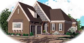 European House Plan 48607 Elevation