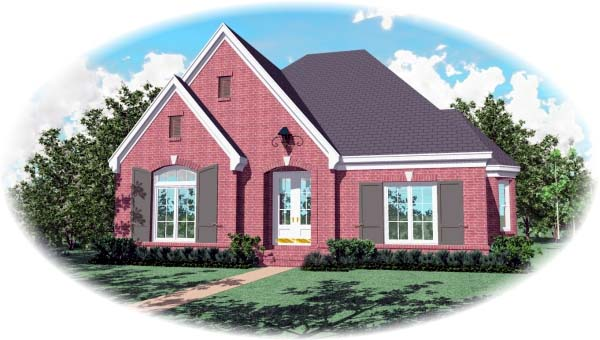 European House Plan 48610 Elevation