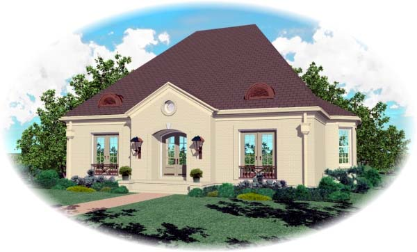 European House Plan 48611 Elevation