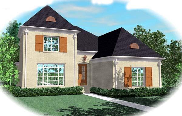 European House Plan 48612 Elevation