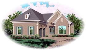 European House Plan 48613 Elevation