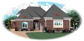 European House Plan 48614 Elevation