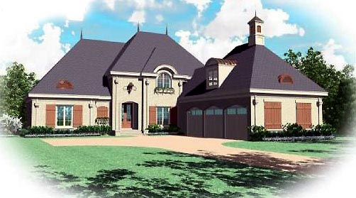 European House Plan 48615 Elevation