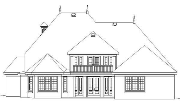 European House Plan 48615 Rear Elevation