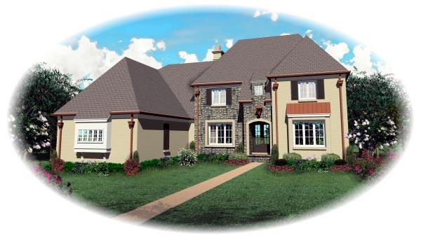 European House Plan 48616 Elevation