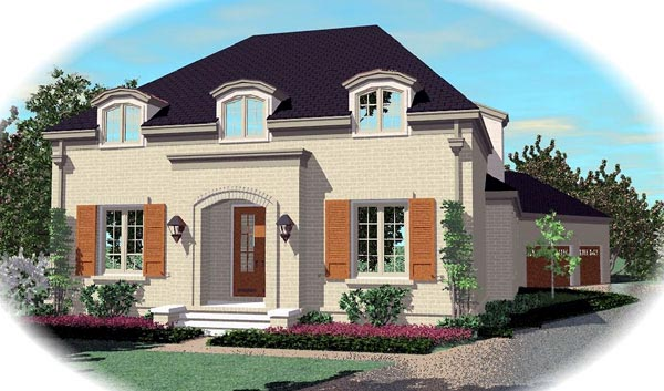 European House Plan 48618 Elevation