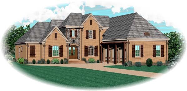 Country European House Plan 48626 Elevation