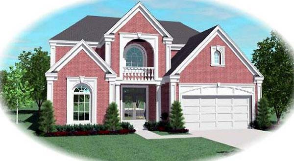 European House Plan 48630 Elevation