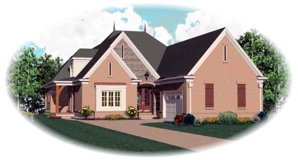 European House Plan 48632 Elevation