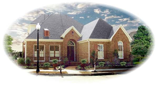 European House Plan 48633 Elevation