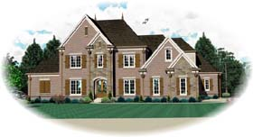 House Plan 48637 | Country European Style Plan with 3658 Sq Ft, 3 Bedrooms, 5 Bathrooms, 3 Car Garage Elevation