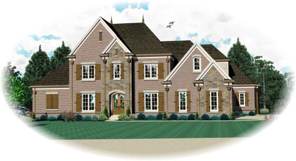 Country , European House Plan 48637 with 3 Beds, 5 Baths, 3 Car Garage Elevation