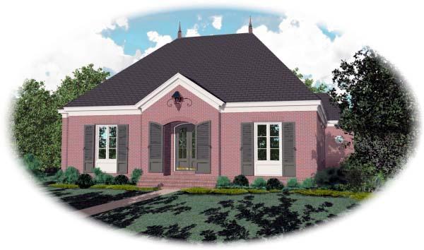 European House Plan 48638 Elevation