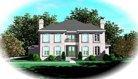 European House Plan 48641 Elevation