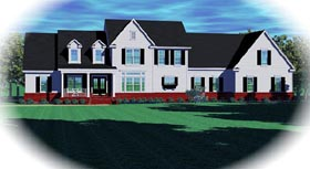 Traditional House Plan 48642 with 4 Beds, 4 Baths, 3 Car Garage Elevation