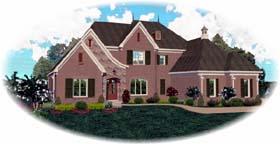 European House Plan 48648 Elevation