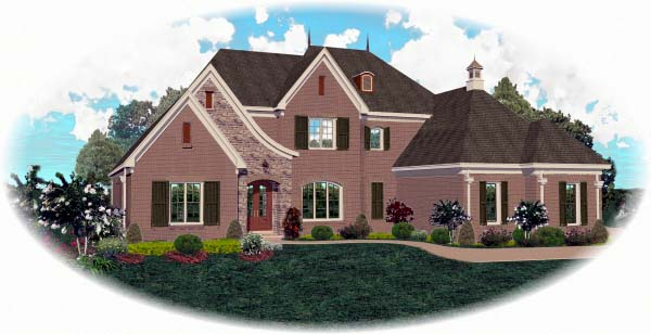 European House Plan 48648 Elevation