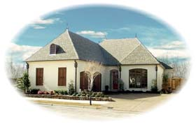 House Plan 48649 | Country European Style Plan with 3438 Sq Ft, 3 Bedrooms, 3 Bathrooms, 2 Car Garage Elevation