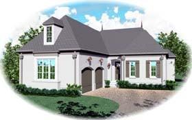 European House Plan 48650 Elevation