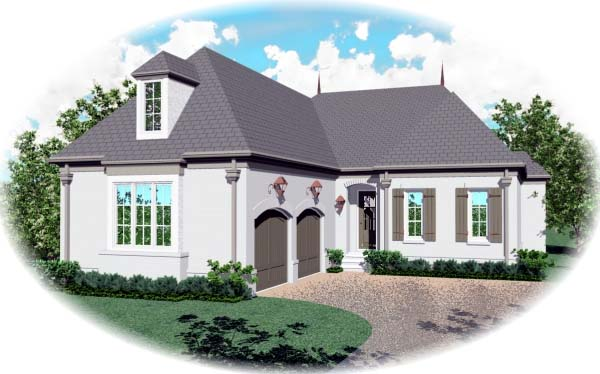 European House Plan 48650 Elevation