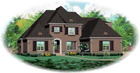 European House Plan 48652 with 5 Beds, 5 Baths, 3 Car Garage Elevation