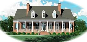 Country Plantation House Plan 48655 Elevation