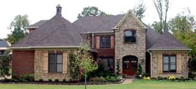 European House Plan 48659 with 4 Beds, 5 Baths, 3 Car Garage Elevation