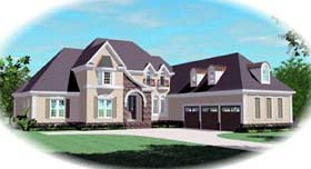 European House Plan 48660 Elevation