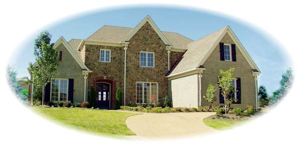 European House Plan 48667 Elevation