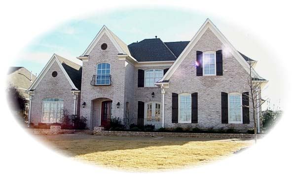 European House Plan 48669 with 4 Beds, 5 Baths, 3 Car Garage Elevation