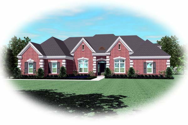 Country European House Plan 48670 Elevation