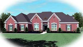 House Plan 48671 | Country European Style Plan with 3046 Sq Ft, 4 Bedrooms, 4 Bathrooms, 2 Car Garage Elevation