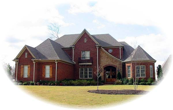 European , Country House Plan 48679 with 4 Beds, 5 Baths, 3 Car Garage Elevation