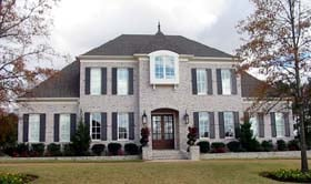 House Plan 48683 | European Traditional Style Plan with 4771 Sq Ft, 5 Bedrooms, 5 Bathrooms, 3 Car Garage Elevation