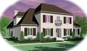 European , Country House Plan 48684 with 5 Beds, 5 Baths, 2 Car Garage Elevation