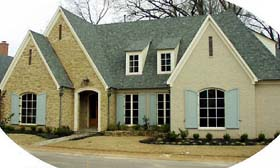 European House Plan 48686 Elevation