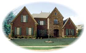 European House Plan 48687 with 4 Beds, 5 Baths, 3 Car Garage Elevation