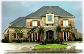 European House Plan 48691 with 4 Beds, 5 Baths, 3 Car Garage Elevation