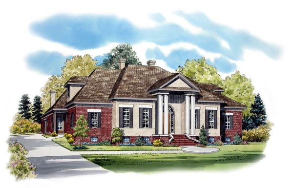 European Traditional House Plan 48693 Elevation