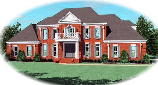 European Traditional House Plan 48697 Elevation
