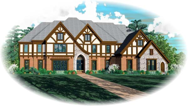 Tudor House Plan 48706 Elevation