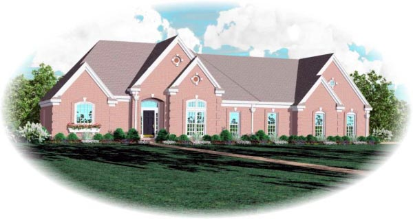 European Traditional House Plan 48733 Elevation