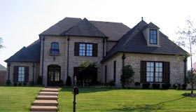 European House Plan 48743 with 5 Beds, 4 Baths, 3 Car Garage Elevation