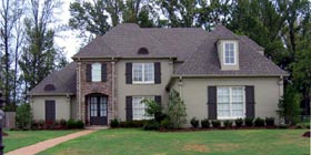 European House Plan 48746 with 5 Beds, 3 Baths, 3 Car Garage Elevation