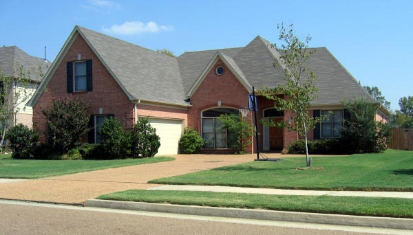 European , Country House Plan 48753 with 3 Beds, 3 Baths, 2 Car Garage Elevation