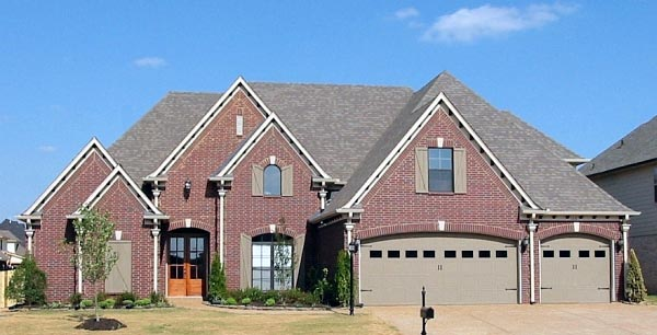 Country, European House Plan 48757 with 4 Beds, 3 Baths, 3 Car Garage Elevation